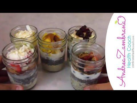 Desayunos saludables, 5 desayunos rápidos y fáciles de hacer - YouTube
