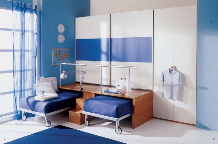 Good Jugendzimmer komplett Set in Wei Blau