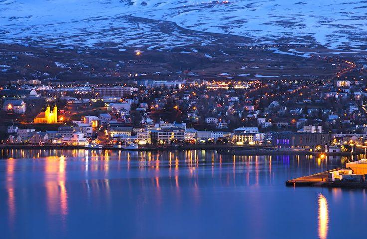 Akureyri, piena di fascino nella notte nordica
