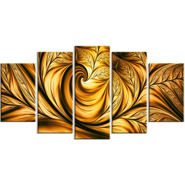Gold Metal Contemporary Large Wall Art Photo Print Vibrant Golden ...