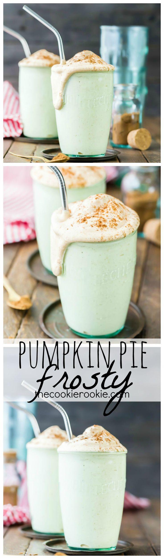 Pumpkin Pie Frosty (Copycat Recipe!) I LOVE going to Wendy's for a Frosty...and I love Pumpkin Pie...LET'S COMBINE THE TWO!