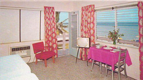 Coral Seas Motel - Miami Beach, FL  LILEKS (James) :: Motel Postcards :: Florida