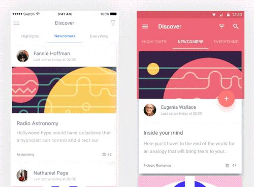 An image of the app concept Snipsl, top mobile interaction design of December 2016