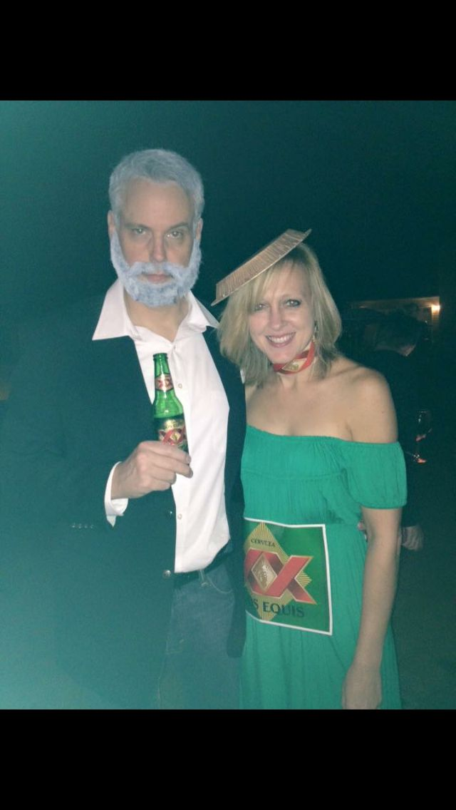 Couple costume - The most interesting man in the world & his beer