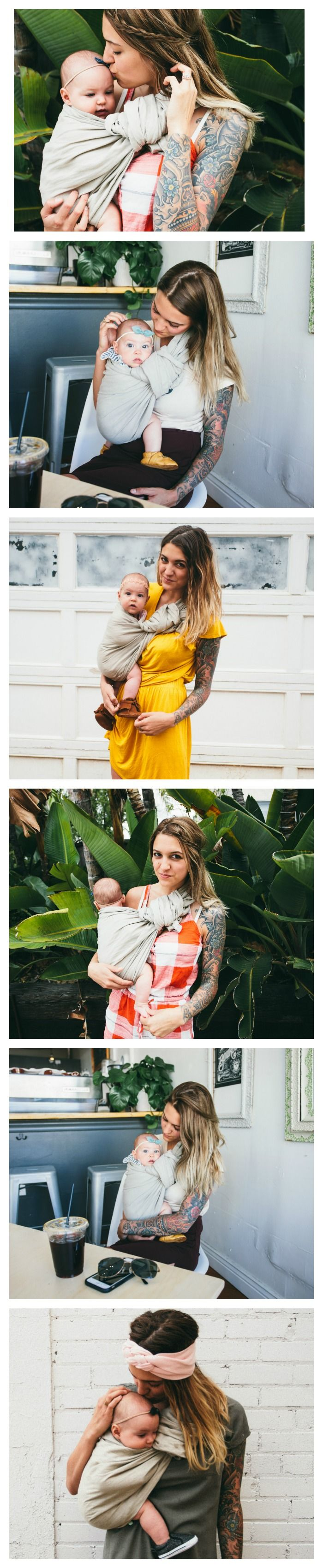 """Our """"Namaste"""" neutral ring sling is easy to integrate into your wardrobe and looks lovely in photos. Linen ring slings are a timeless classic, beloved for ages for the beauty, strength and versatility"""