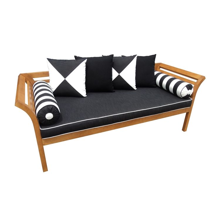 Mimosa Curved Timber Day Bed With Cushion I/N 3191382 | Bunnings Warehouse