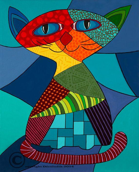 Toiles décorative chat