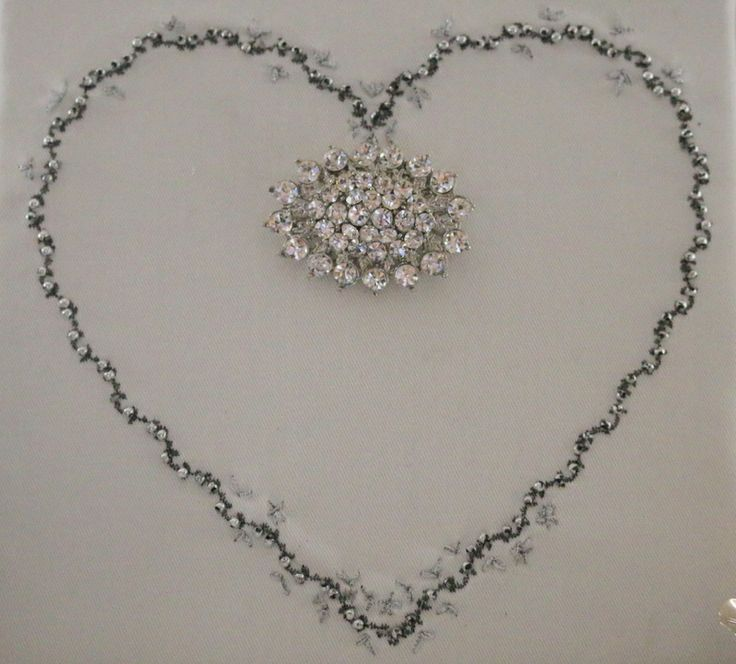 Use machine and hand embroidery to make a special heart for Mothersday