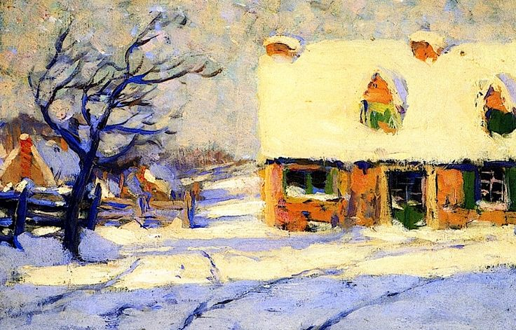 bofransson:  Village Street Clarence Gagnon - circa 1908-1912 Follow the biggest painting board on Pinterest: www.pinterest.com/atelierbeauvoir