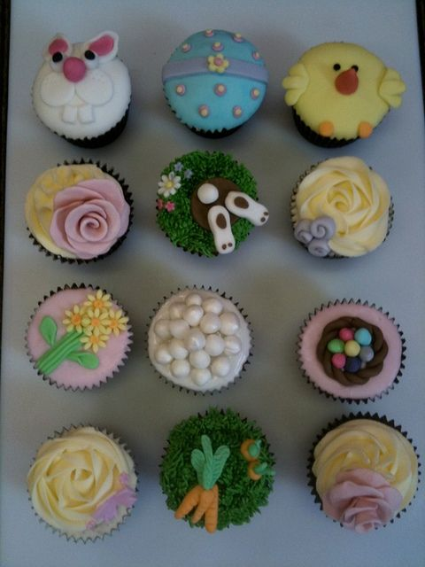 Cutey easter cupcakes - For all your cake decorating supplies, please visit craftcompany.co.uk