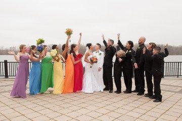 Rainbow wedding as seen on @offbeatbride