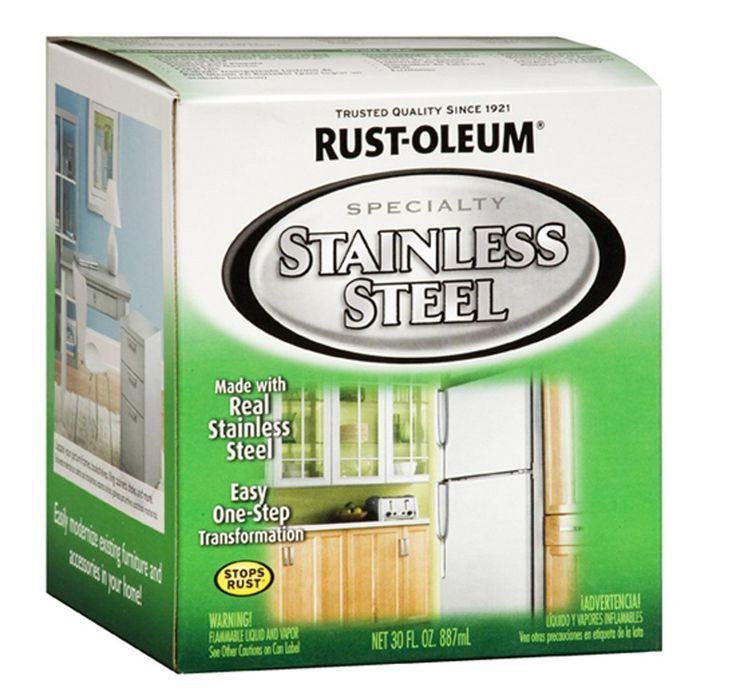 How to Faux Paint to Look Like Stainless Steel.  Did you know that you can use paint to make something look like stainless steel?  You can paint appliances (a refrigerator, dishwasher, microwave, oven, vent hood, washer, dryer, toaster, etc), home accessories, office furniture, ceramic tile, hardware, light fixtures, trash cans, faucets, bed frames, patio furniture, fireplace surrounds, chairs, the exterior of clawfoot bathtubs, cabinets, and more.