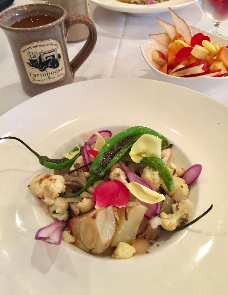 Cauliflower hash for breakfast @ The Farmhouse Inn, Forestville, CA