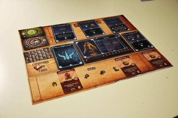 Gloomhaven Playmats Player Mats Board Game In 2020 Board Games Playmat Games