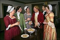 Friends—and strangers, too, as was sometimes custom—caroled their townsfolk on Christmas and were thanked with a glass of wassail.