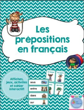 This product contains everything you need to help you teach prepositions in french. This set includes: - 15 labels words - 15 mini-posters - 15 two pieces puzzles - memory game - 8 words puzzles with pictures - 5 printable activities - 15 labels and 15 word labels to use in an interactive notebook - 2 comprehension activities (listen and draw) Cet ensemble d'activités sur les prépositions a été conçu pour des élèves du premier cycle (1ère-2e année) mais peut facilement s'adapter ...