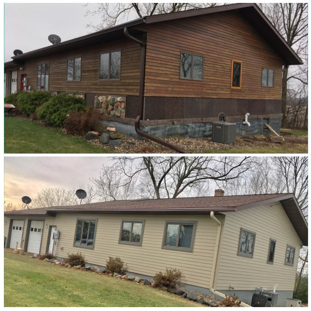 Debbys siding window wrap and gutter project in downing wi