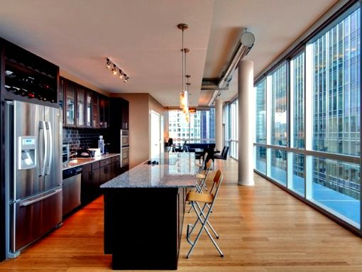 Chicago; Floor To Ceiling Windows All The