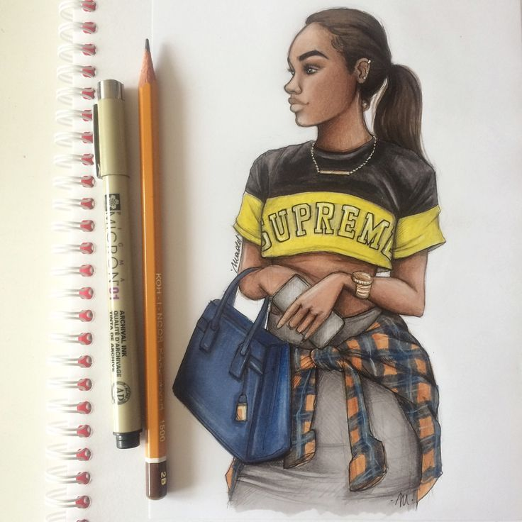 Black Natalia Drawing Madej Girls