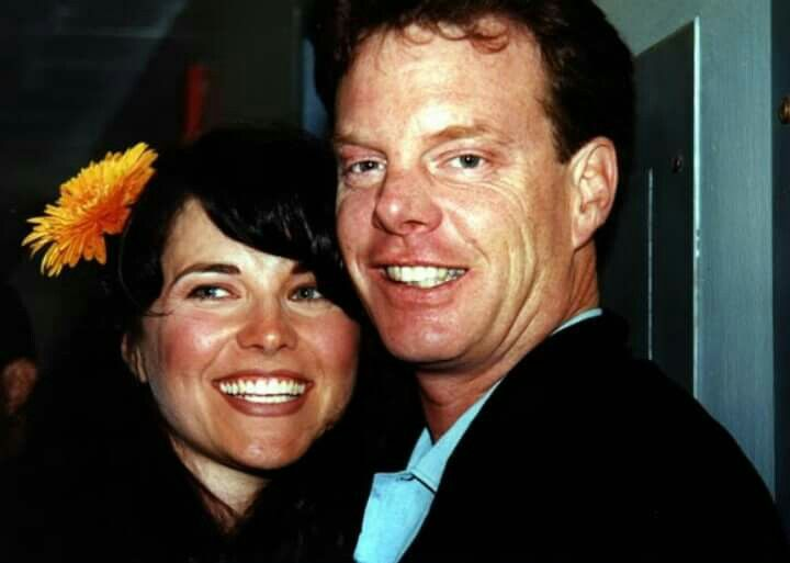 Lucy Lawless with husband Robert Tapert at 10th Anniversary Xena Convention in Burbank, 25th October 2005