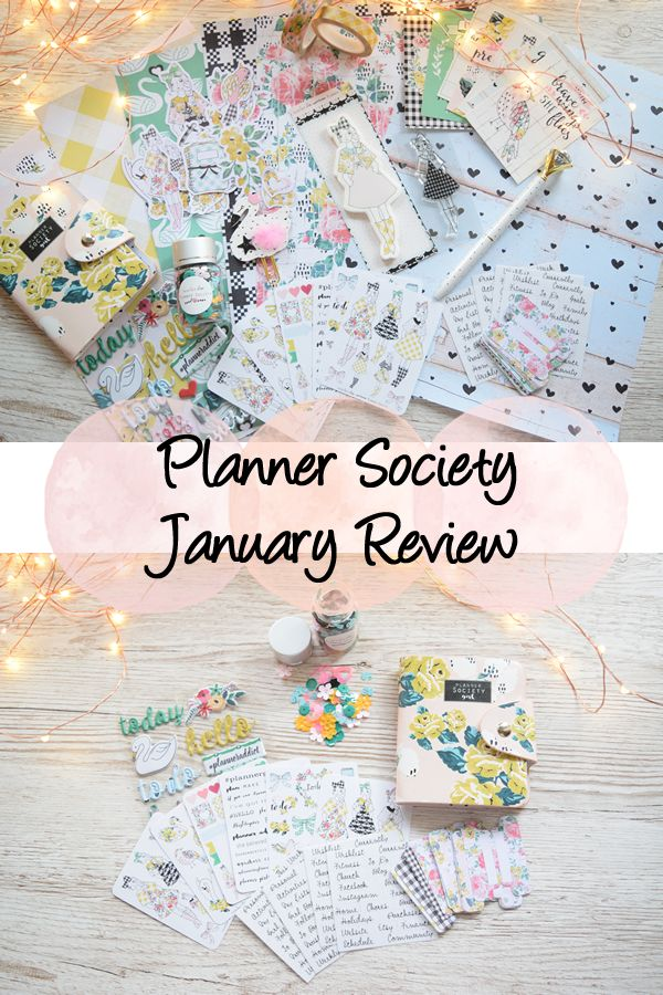 My review of the January 2017 Planner Society kit!
