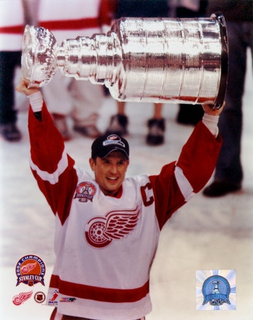 Stevie Yzerman - much respect for this man. Played with the Red Wings for his entire career and even worked in the front office. Much luck with the Lightning. :)