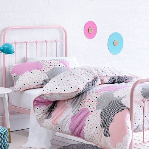 Adairs Kids Girls Cloud Quilted Bedroom Quilt Covers