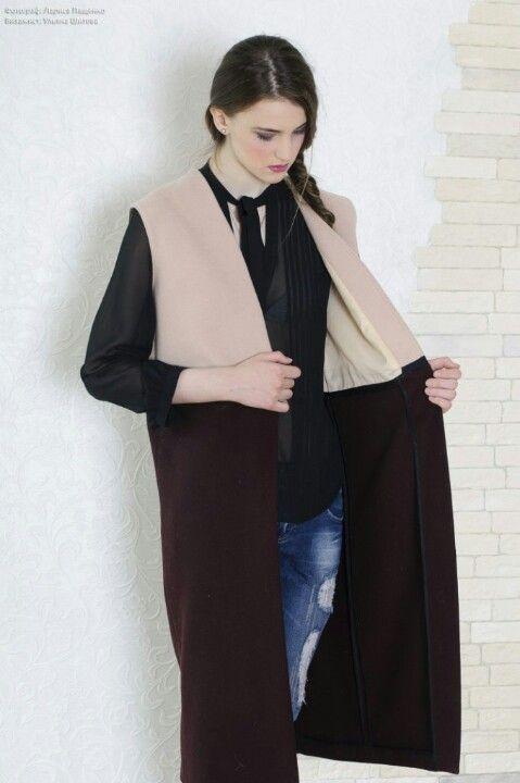 #coat #sleeveless coat #studio #atelier #пальто  #жилет #безрукавка