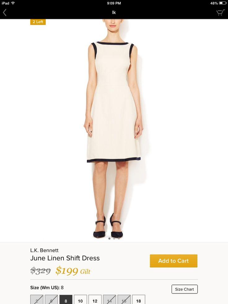 LK Bennett bowl neck work dress
