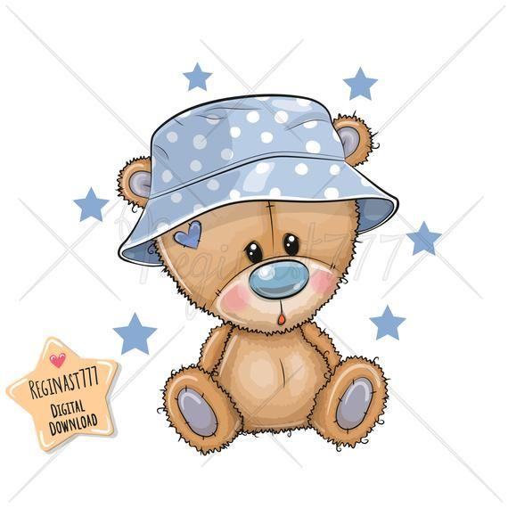 Teddy Bear Clipart Png Digital Download Clipart Sublimation Design Children Printables Baby Boy Bear Clip Art Scrapbooking Clip Art In 2021 Teddy Bear Clipart Teddy Bear Cartoon Baby Animal Drawings