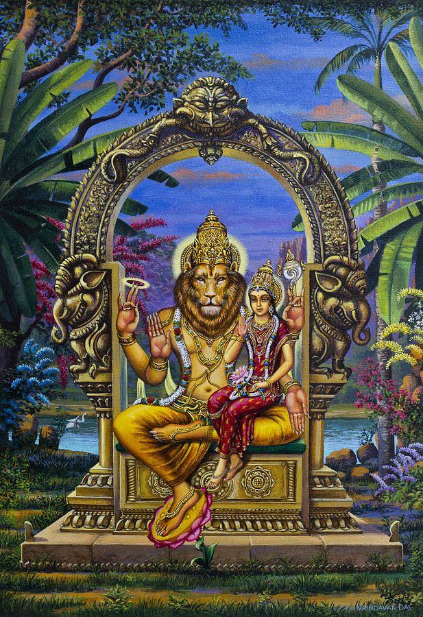 Lakshmi Narasimha Painting