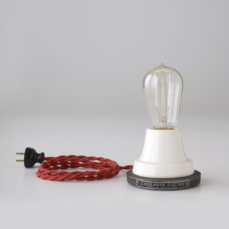 Ion Table & Desk Lamp | Schoolhouse Electric & Supply Co.: Red, Lights Fixtures, Tables Desks, Porcelain, Schoolhouse Electric, Bulbs, Tables Lamps, Ion Lamps, Cords