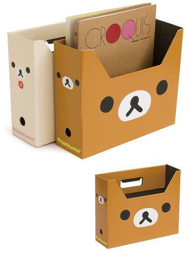 Easy DIY Set of 2 Rilakkuma Bear Storage Boxes (P172). $7.00, via Etsy.