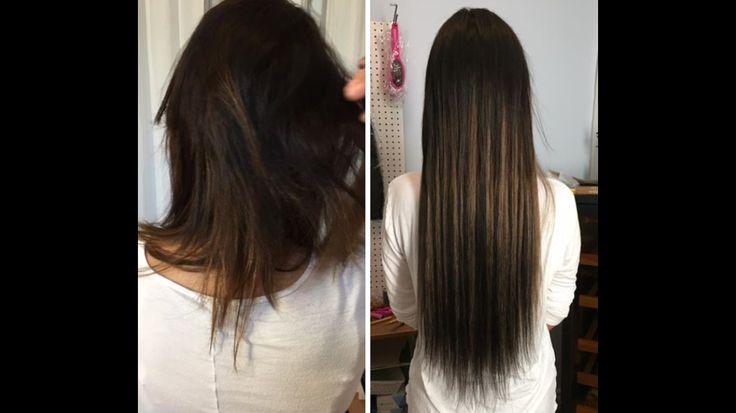 """Noir et brun extensions à billes i tips... 22"""" cheveux naturel"""