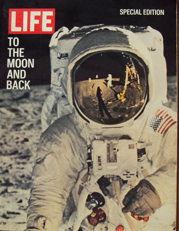 "Vintage Life Magazine - Special Edition ""To The Moon and Back"" - August 10, 1969 - Moon Landing"