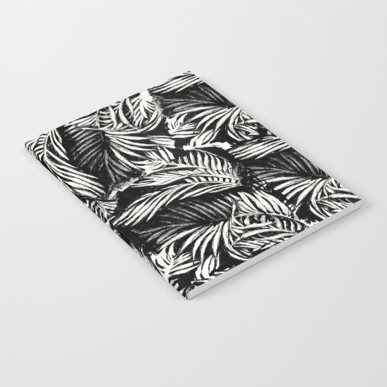 Palm Leaves Notebook by Mister Moon #society6 #notbook