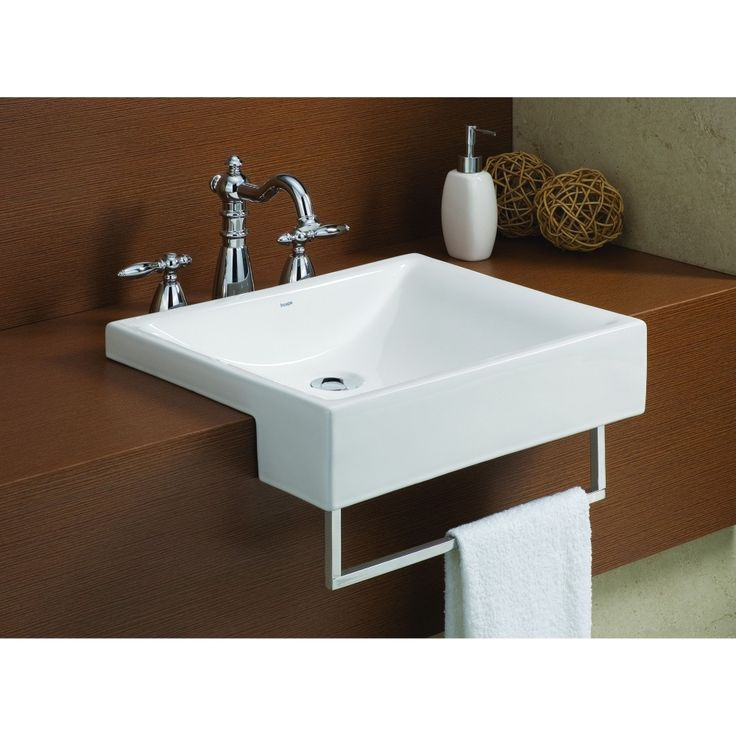 Cheviot Vitreous China Pacific Semi-Cassa Sink In White