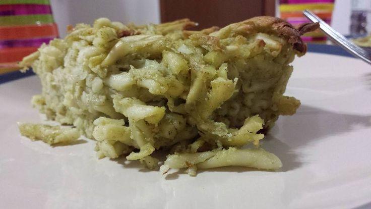 baked pasta with pesto sauce