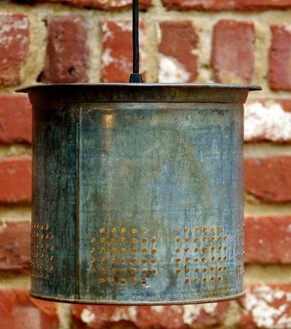 Rustic Copper Pail Pendant Light By Cre8iveconcrete On Etsy: Best 25+ Bucket Light Ideas On Pinterest