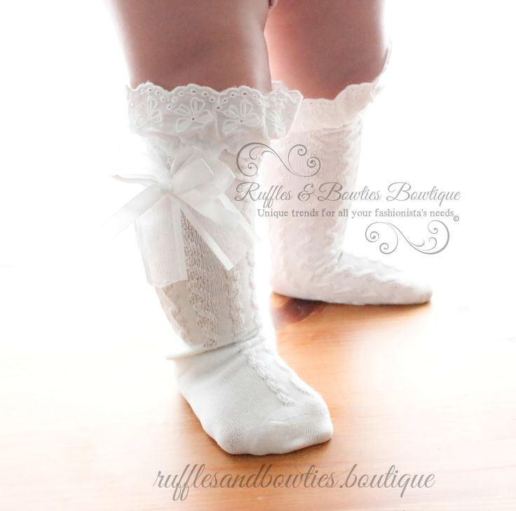 Baby Girls Boot Socks - CREAM Boot Socks, Toddler Boot Socks, Toddler Socks…