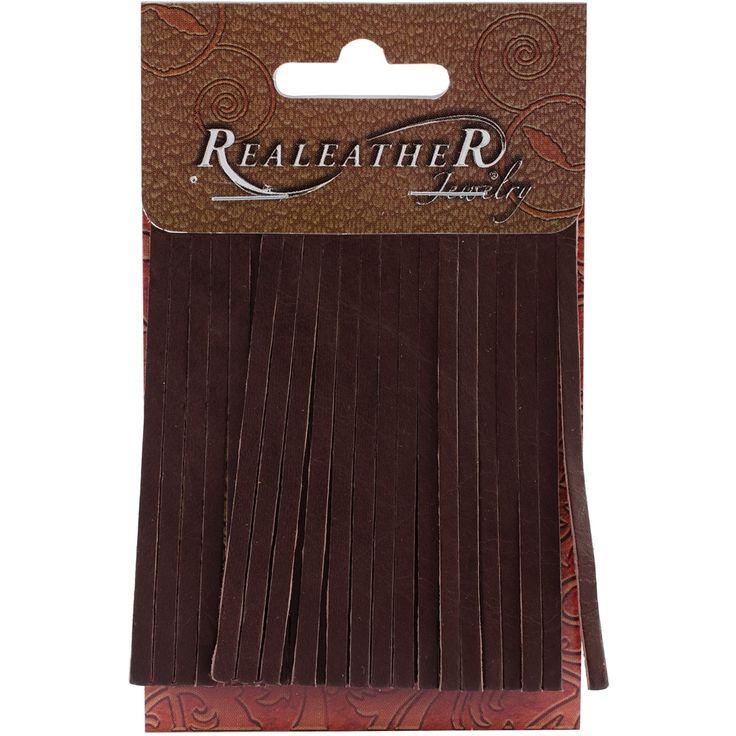 "Realeather Crafts Deerskin Fringe 2""X3"" 2/Pkg Carded-Chocolate - chocolate (Brown)"