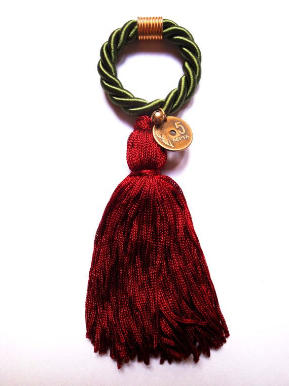 Christmas rope fringe lucky charm new years eve by PROPSfashion, €19.00