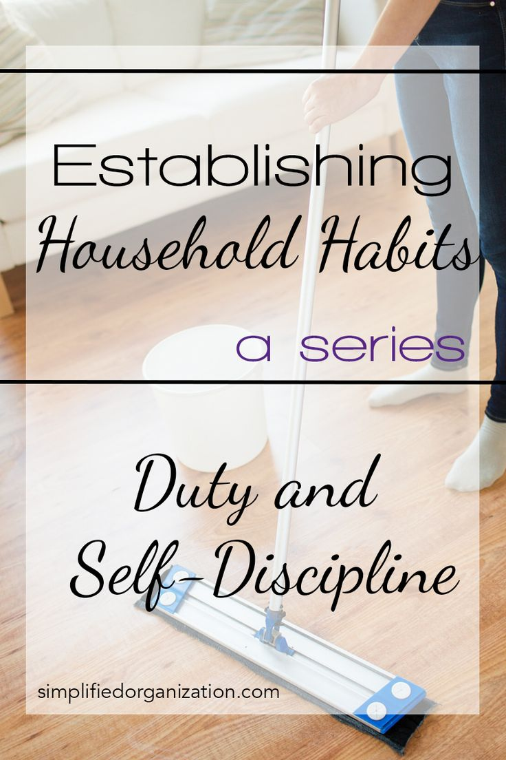 establishing household habits: habits, routines, and schedules
