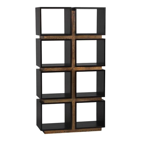 Room Divider Made Of Pallet Bookcase