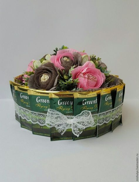 Торт-шкатулка из чая и конфет : мастер-класс   Четыре вкуса