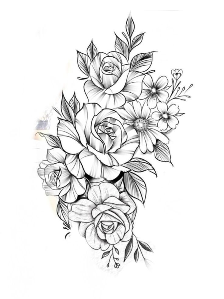 Розами спасибо, шаблоны для татуировок для девушек