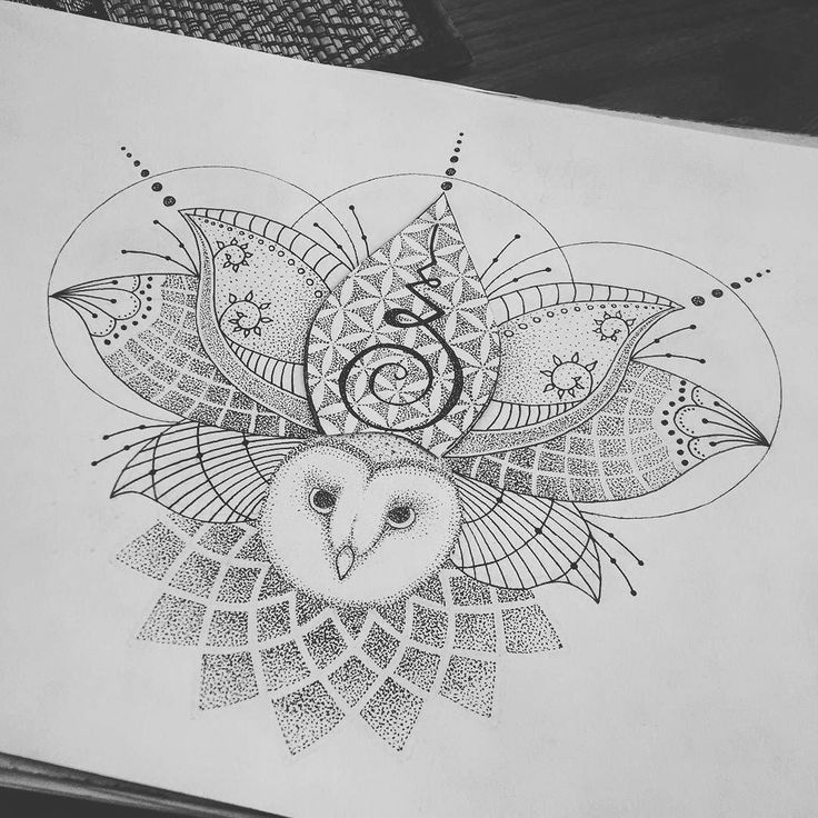 Fresh WTFDotworkTattoo Find Relax Meditate and Reflect on this Captivating Web Find Lotus flower & owl tattoo commission :) #mandala #geometric #owl #dotwork #floweroflife #drawing #sacredgeometry #art #design #tattoodesign #tattoo #iblackwork by splund_art wtfdotworktattoo instagram
