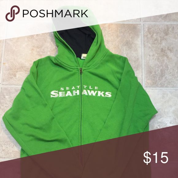 Seattle Seahawks green zip up hoody sweatshirt Green Seattle Seahawks zip hoody. Tag removed, but fits like a mens medium. Great used condition. Sweaters Zip Up