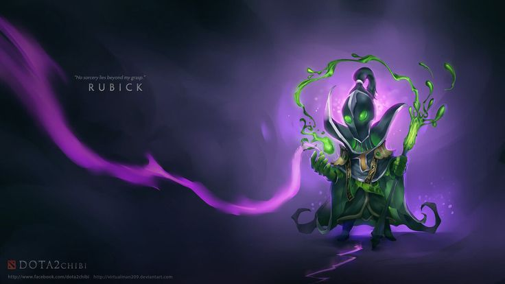 dota 2 chibi wallpaper rubick