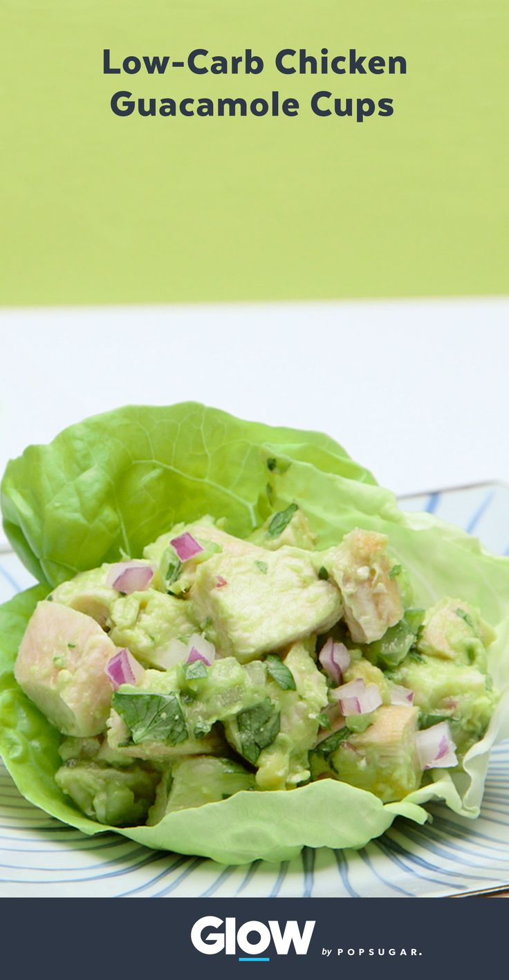 Chicken guacamole cups are your new healthy lunch obsession. They're a low-carb lunch that will keep you full all day.